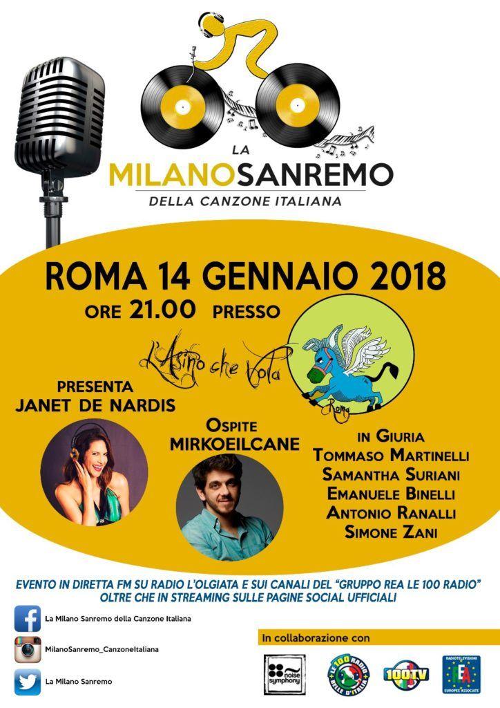 La Milano Sanremo della Canzone italiana 2018