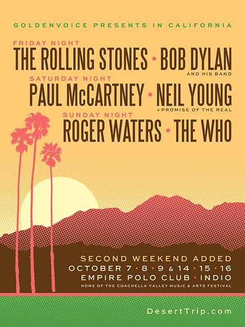 Bentornati negli anni 70! Desert Trip riporta sul palco i miti del Rock