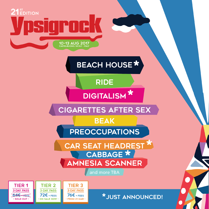 Si aggiungono nuovi nomi ad Ypsigrock 2017