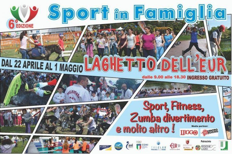 Al Laghetto dell'Eur di Roma torna Sport in Famiglia