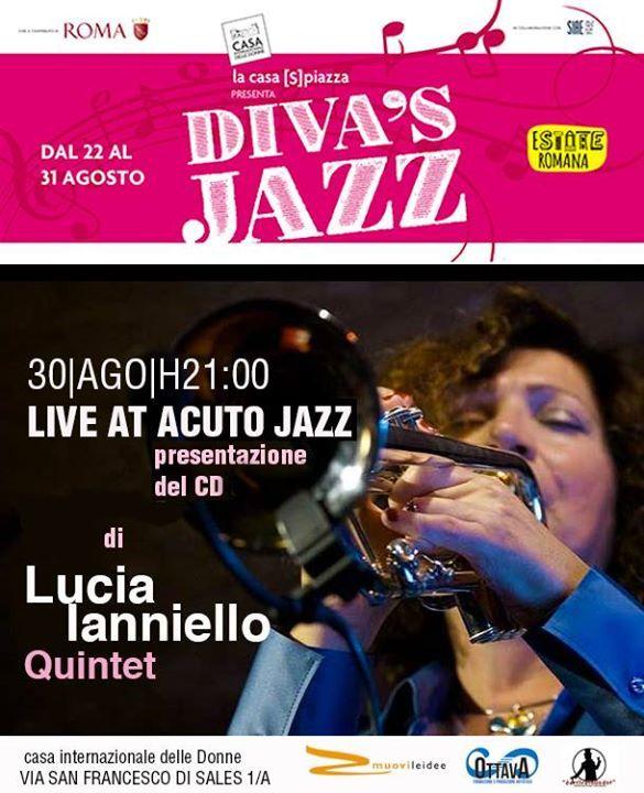 Lucia Ianniello Quintet in concerto al Diva's Jazz alla Casa Internazionale delle Donne