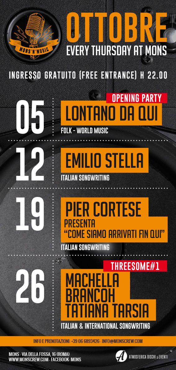 Riparte dal 5 ottobre la nuova stagione musicale del Mons a Roma
