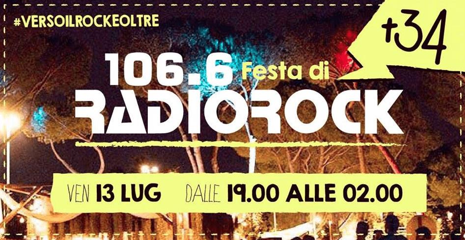 I 34 anni di Radio Rock al Parterre – Farnesina Social Garden