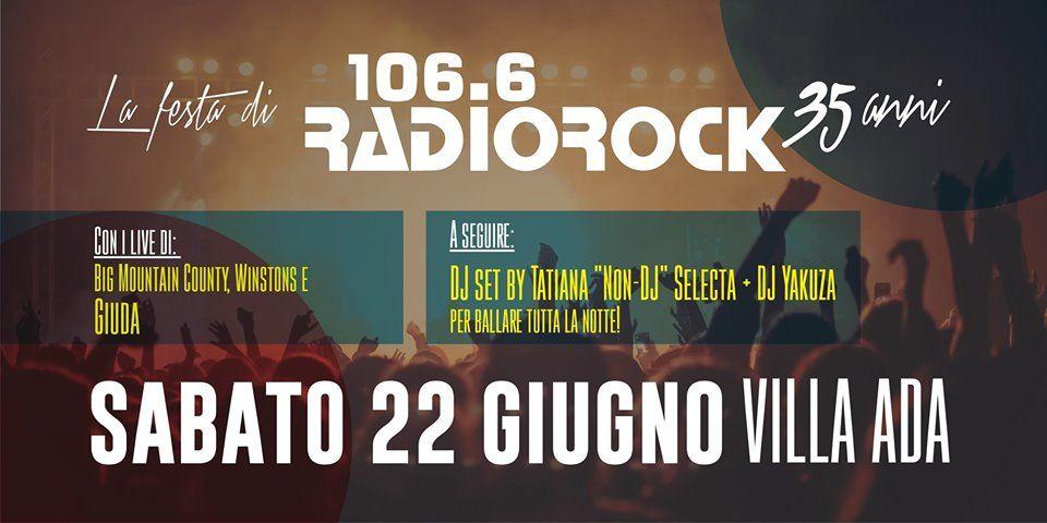 Radio Rock festeggia i suoi 35 anni il 22 giugno a Villa Ada