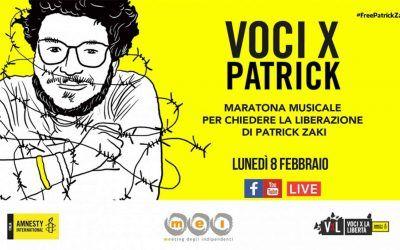 Voci x Patrick: la maratona musicale per il rilascio dello studente egiziano