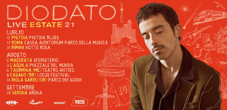 Diodato live 2021: il ritorno in tour nell'estate italiana